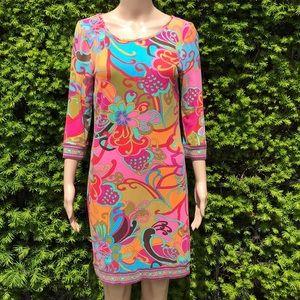 •Trina Turk• Floral Multicolor Shift Dress